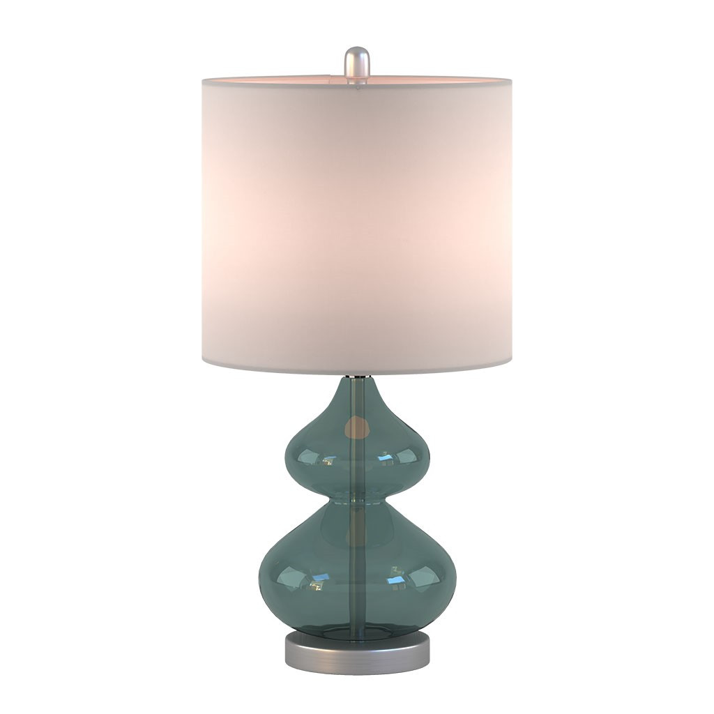 Waterfront Glass Table Lamps - Set of 2 lit