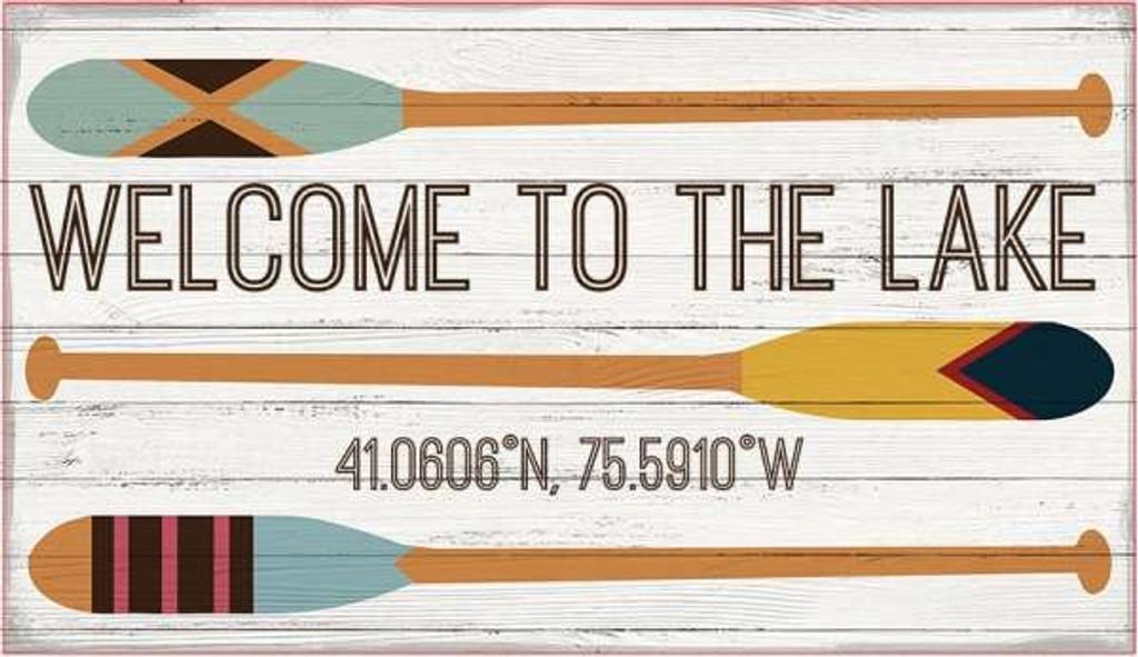 Welcome to the Lake Oars Custom Sign