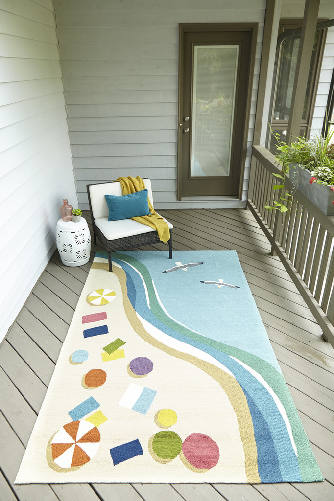 Beside the Shore Area Rug room view