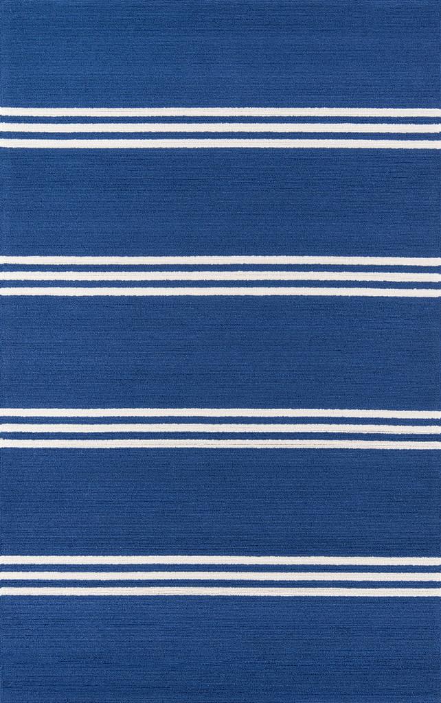 Maritime Blue Stripe Area Rug