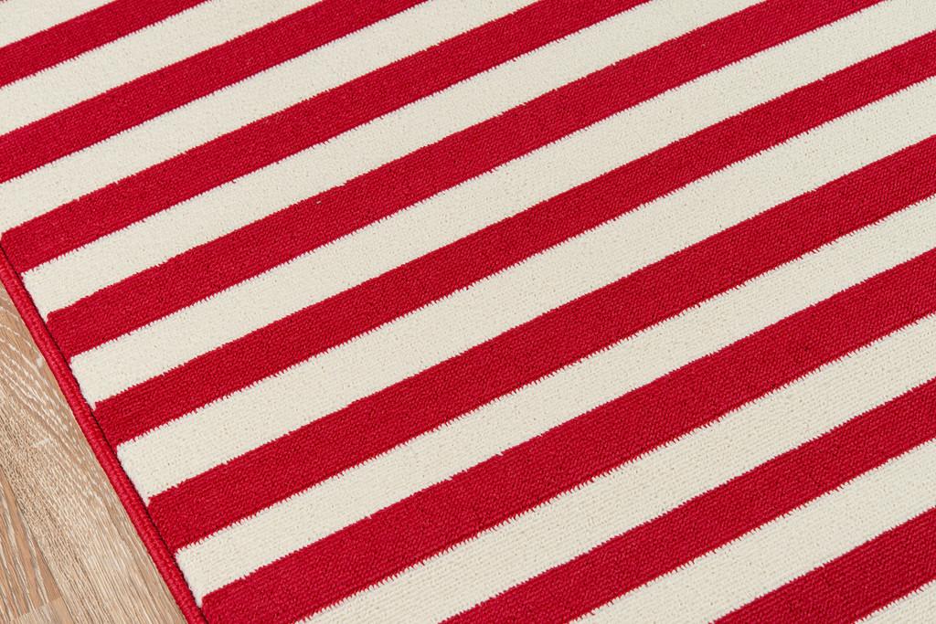 Red Stripe Baja Area Rug