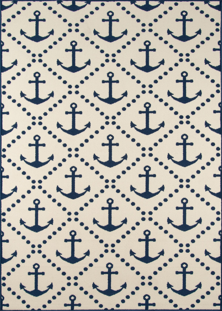 Anchors Away Ivory Baja Area Rug