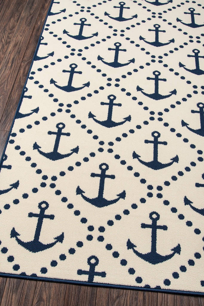 Anchors Away Ivory Baja Area Rug