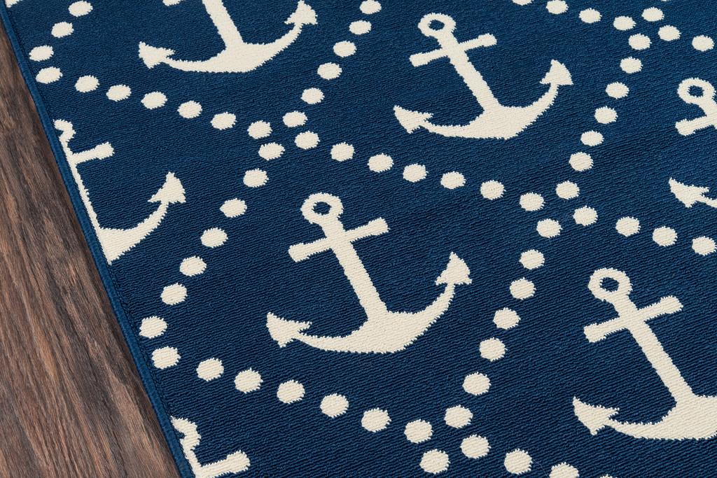 Anchors Away Navy Baja Area Rug