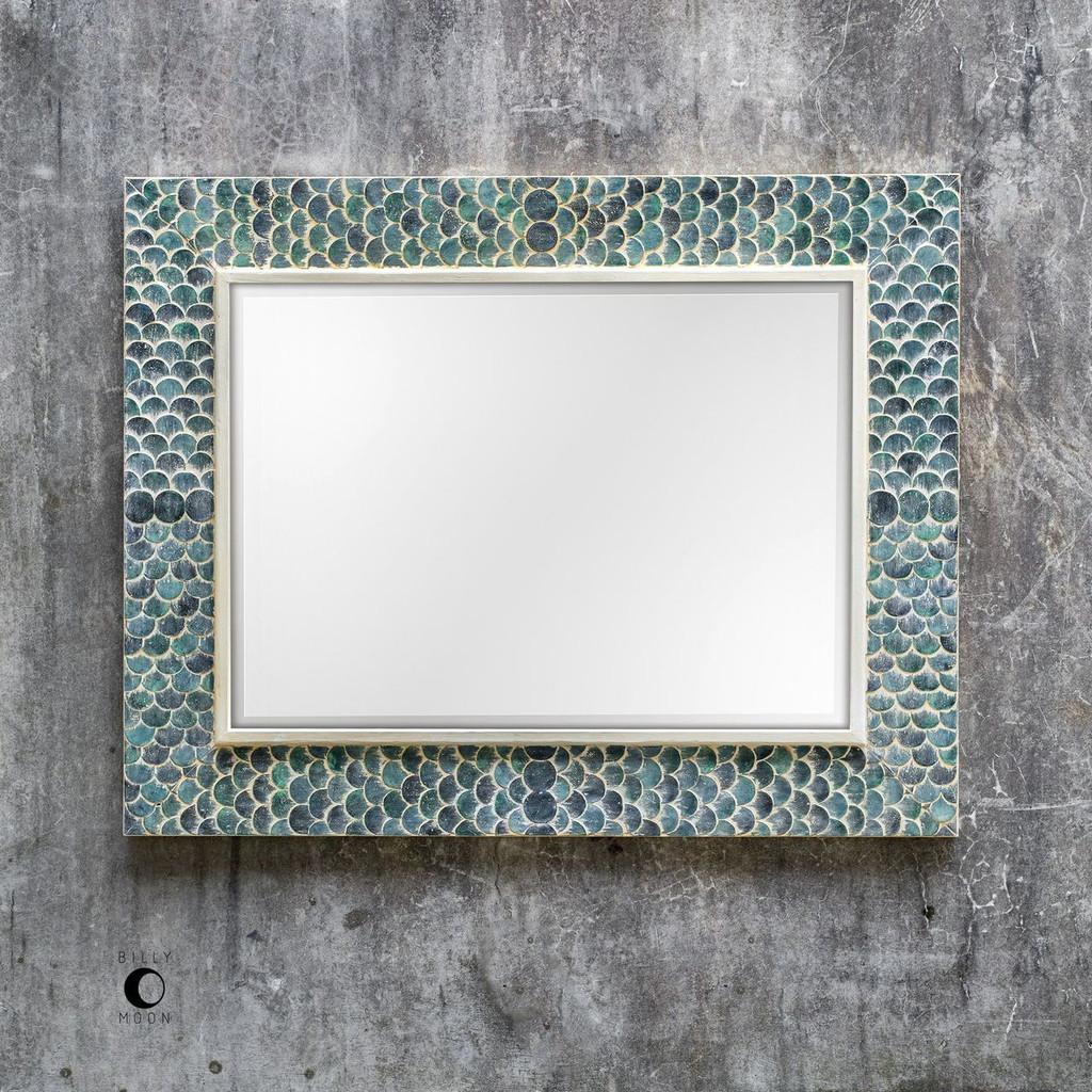 Tiburon Coastal Blue Mirror room image