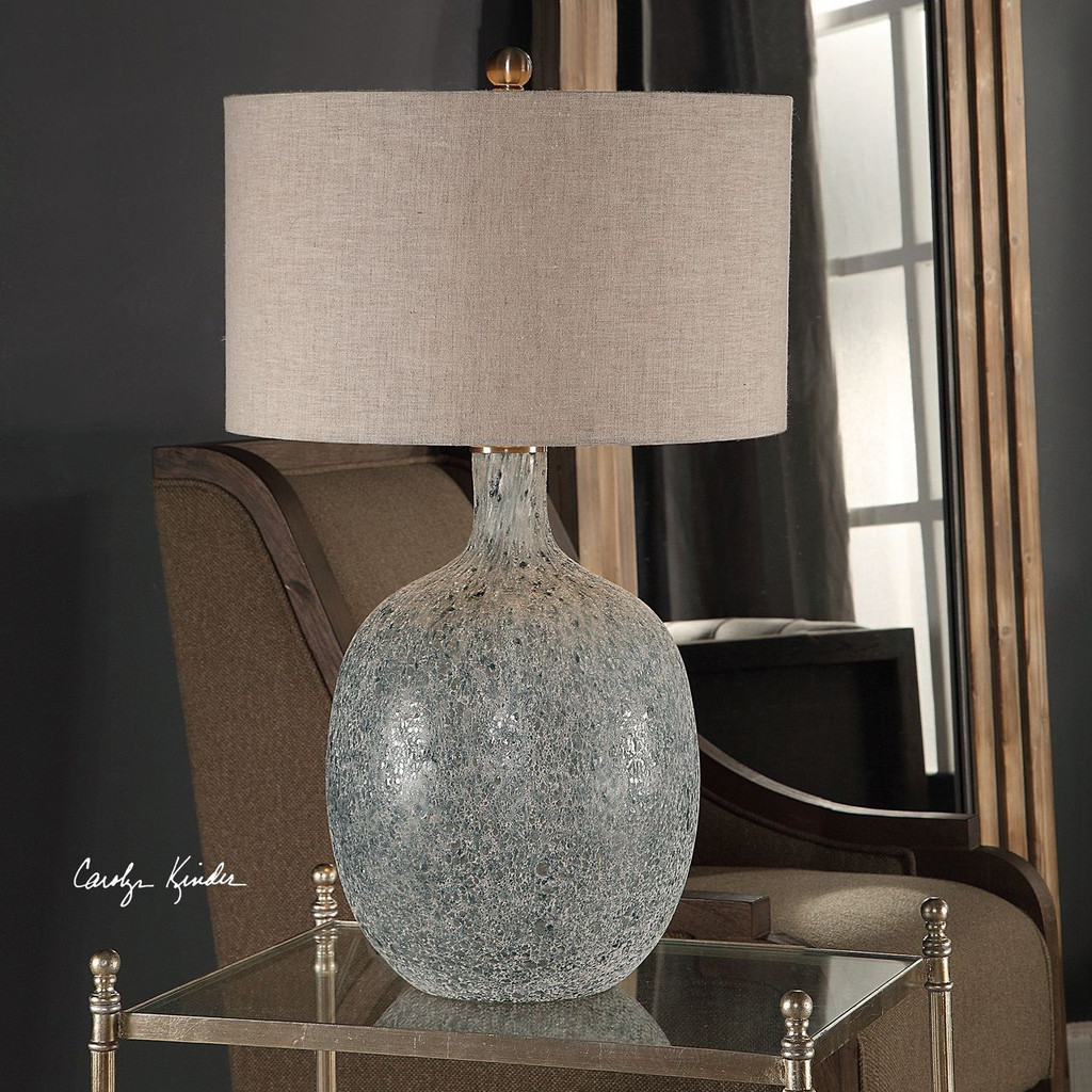 Oceana Glass Table Lamp  room view
