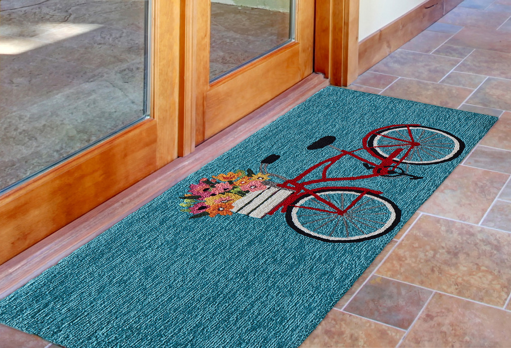 Go for a Bike Ride Blue Rug runner image