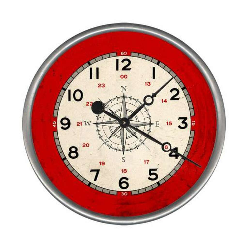 Nautical Compass Rose Custom Clock