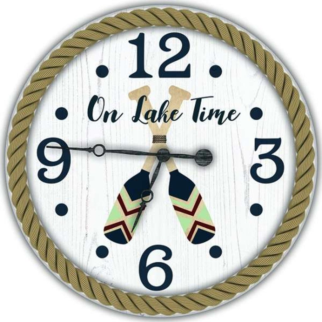 Painted Oars Custom Wall Clock