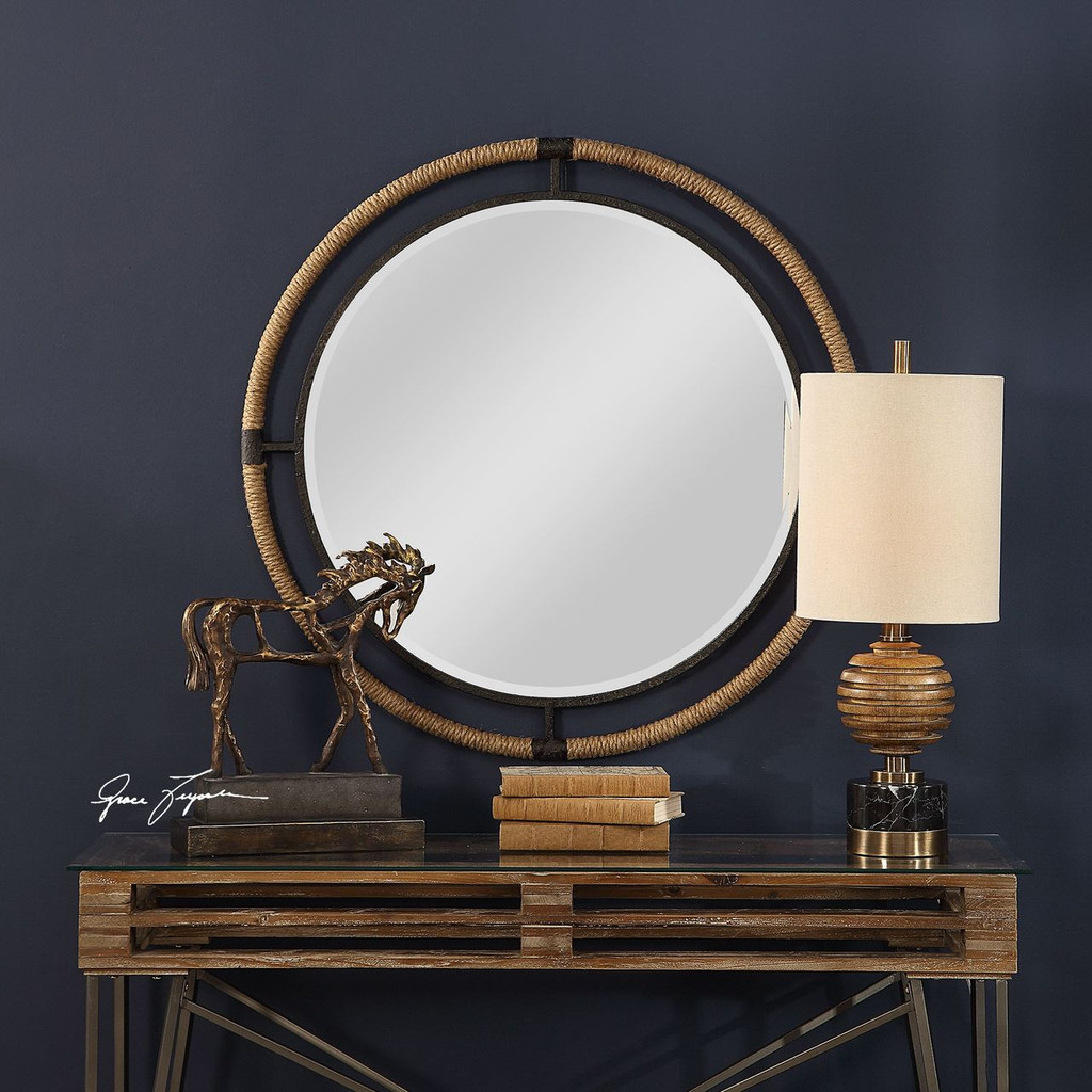 Melville Round Coastal Mirror room image