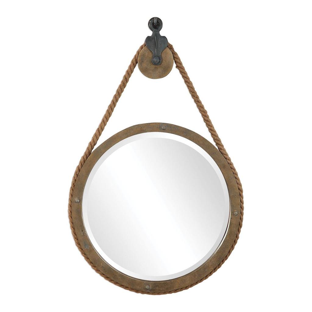 Maritime Pulley Round Mirror