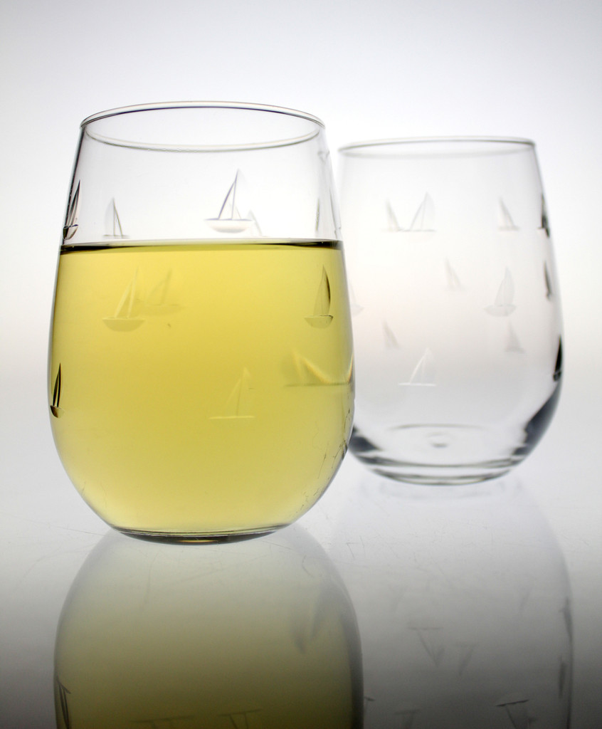 Sailing Stemless Wine Tumblers - beauty image