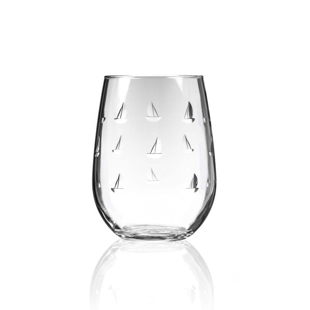 Sailing Stemless Wine Tumblers - Single glass