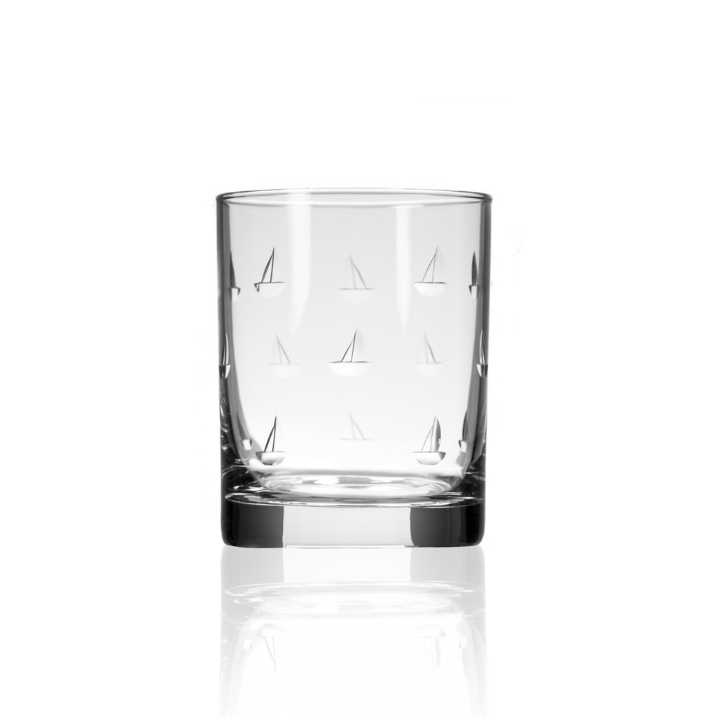 Sailing Double Old Fashioned Glasses - Single image