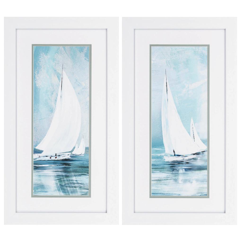 Soft Sailing Set of Two Nautical Art Pieces
