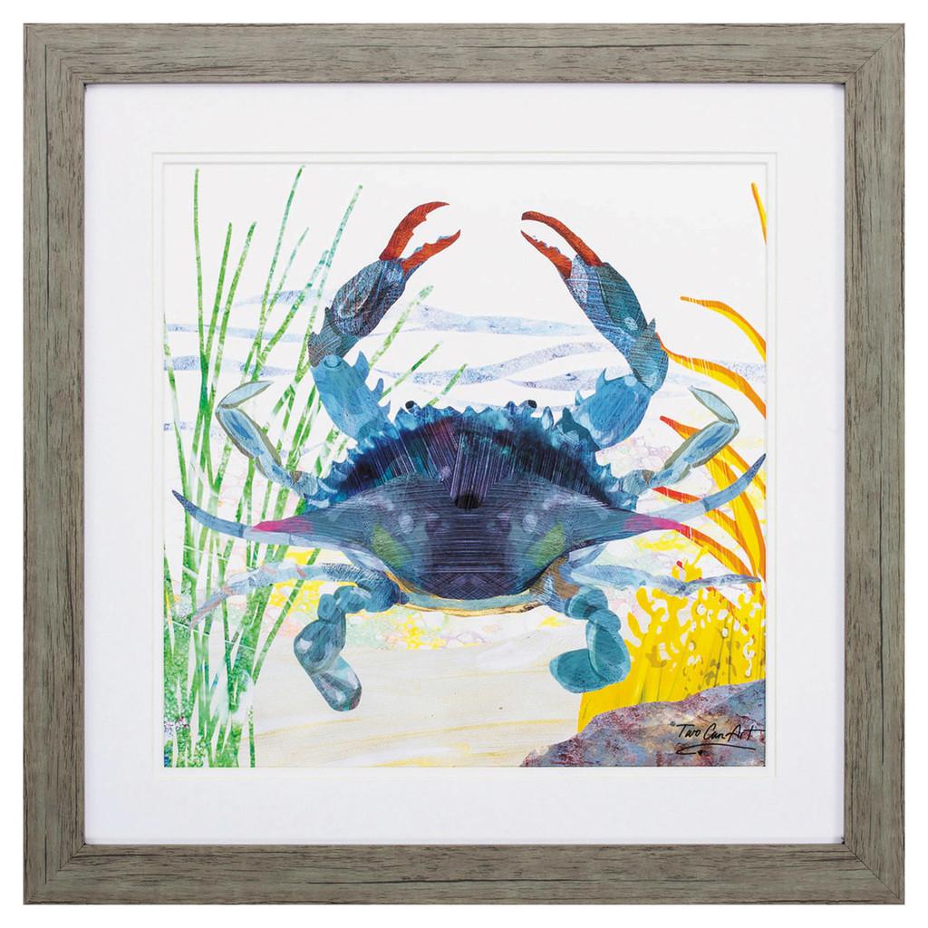 Sea Creature Blue Crab Wall Art