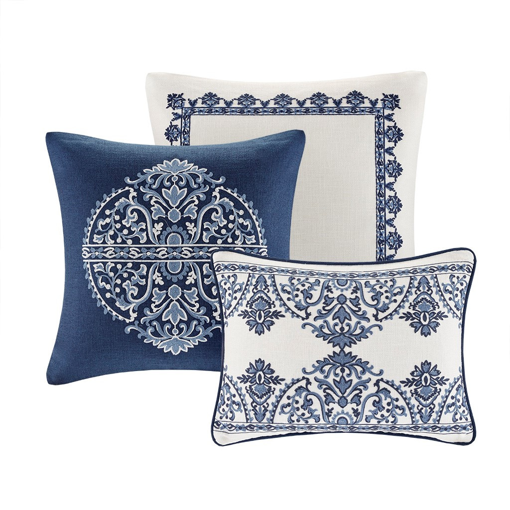 Indigo Skye Oversized Queen Size Comforter Set decorative pillows