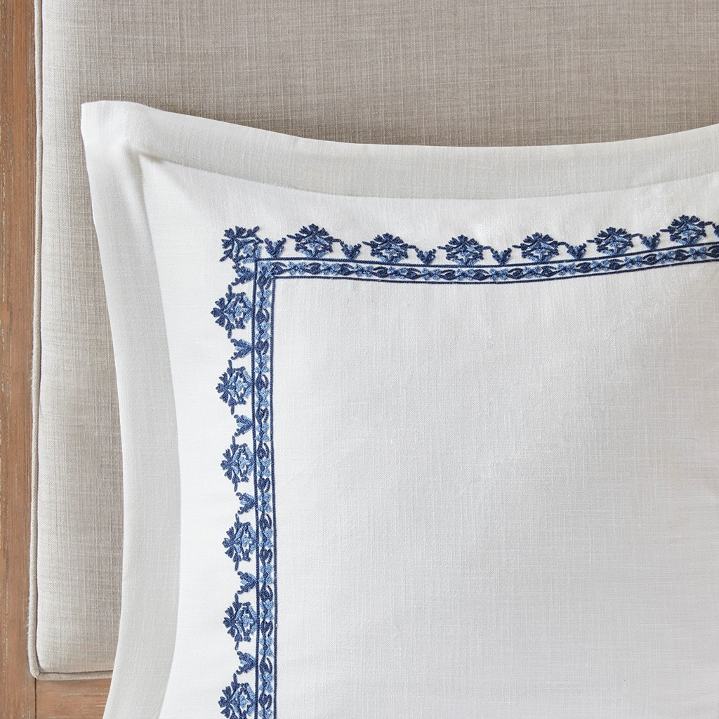 Indigo Skye Oversized Queen Size Comforter Set close up euro shams