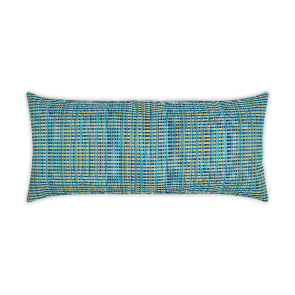Sun Run Aqua Blue Lumbar Pillow