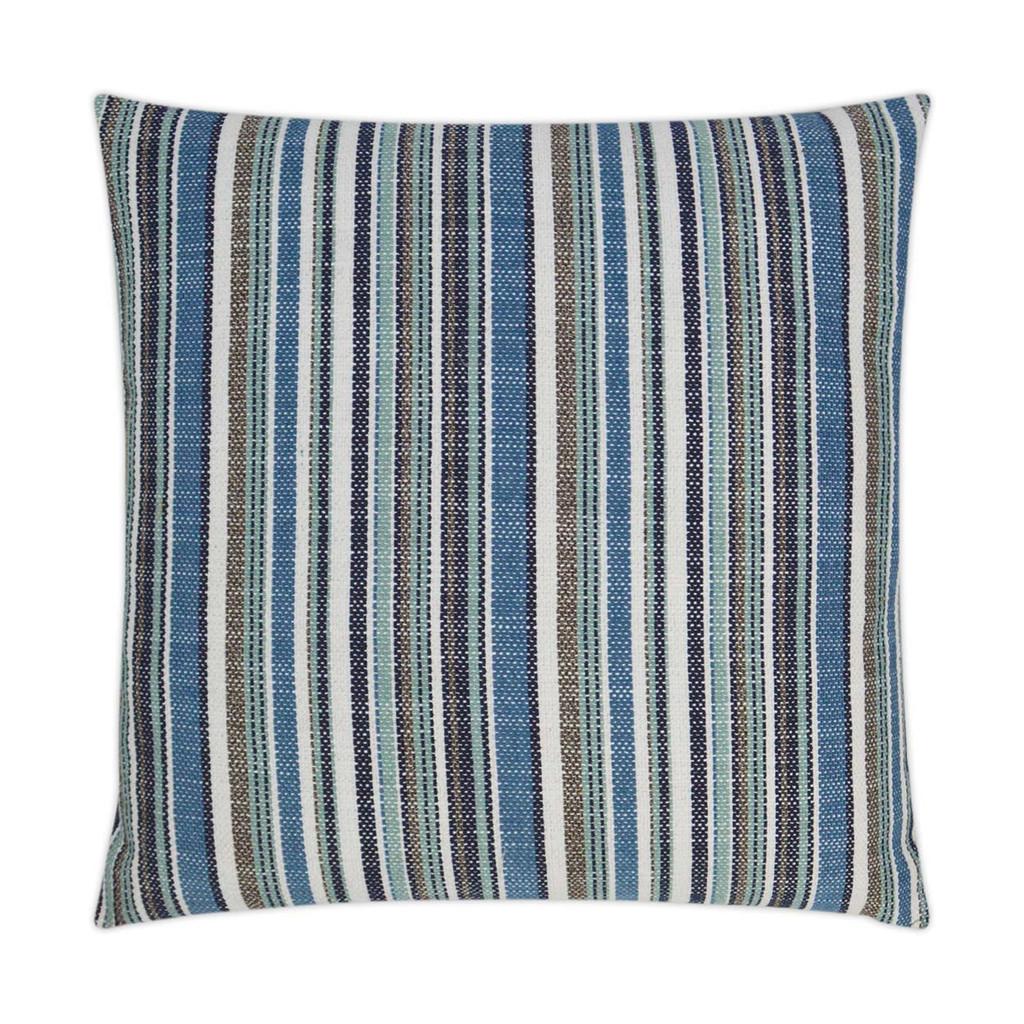 Fancy Navy Stripe Indoor-Outdoor Lux Pillow