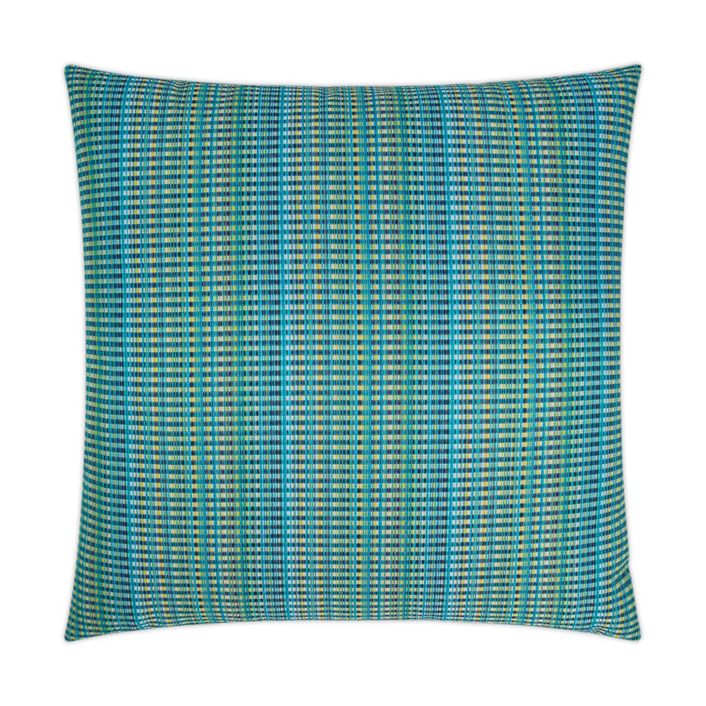 Sun Run Aqua Blue Indoor-Outdoor Lux Pillow