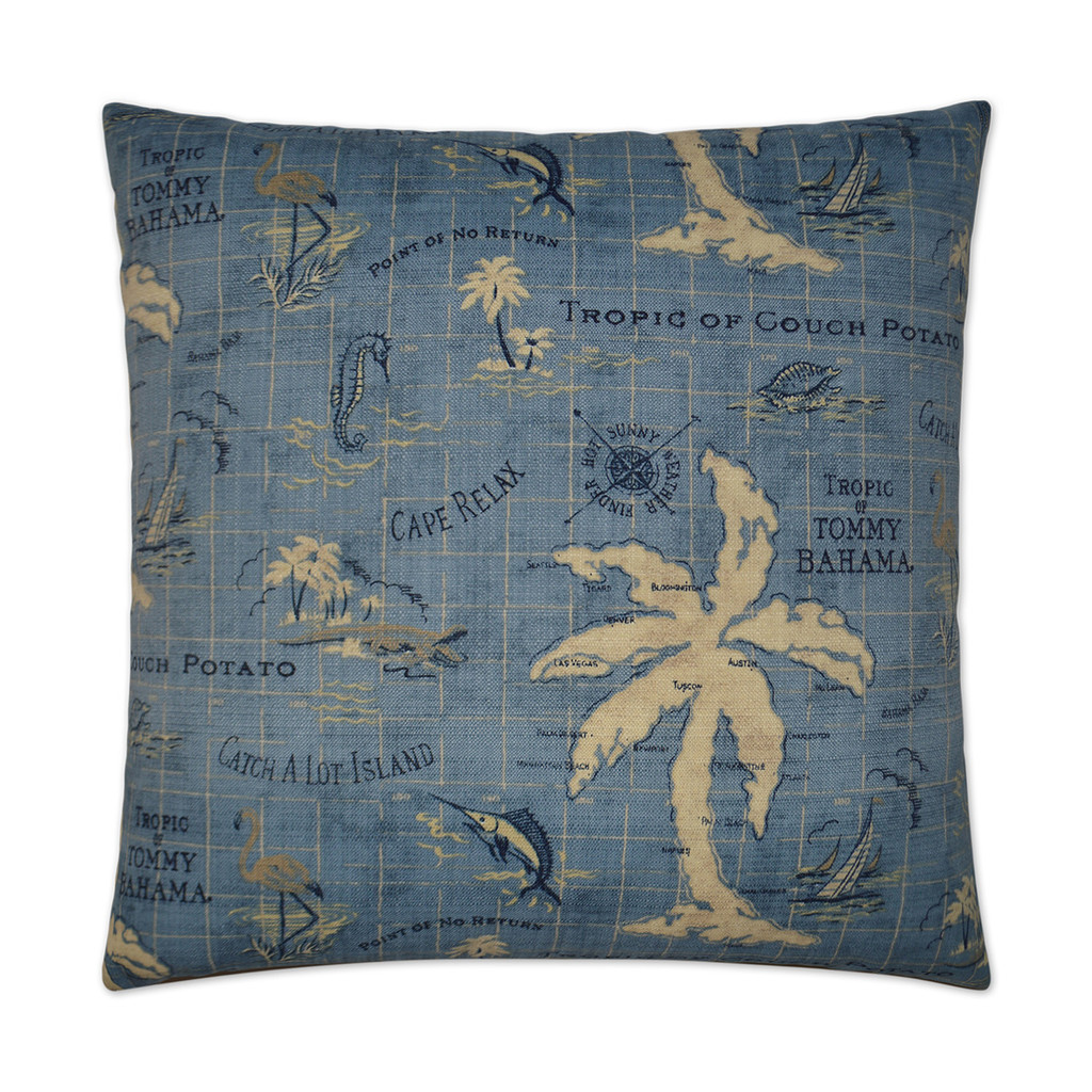 Island Ocean Song Indoor-Outdoor Pillow