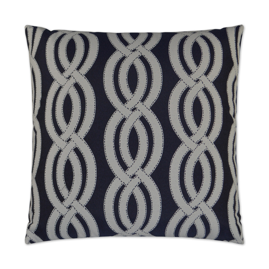 Sea Shore Navy Blue Indoor-Outdoor Pillow