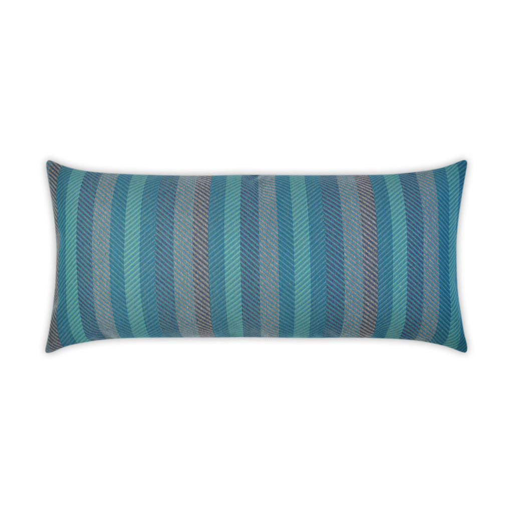 Latitude Peacock Lumbar Indoor-Outdoor Pillow