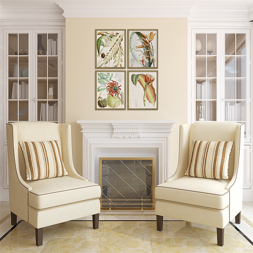 Tropical Variety Set of Four Framed Art room view