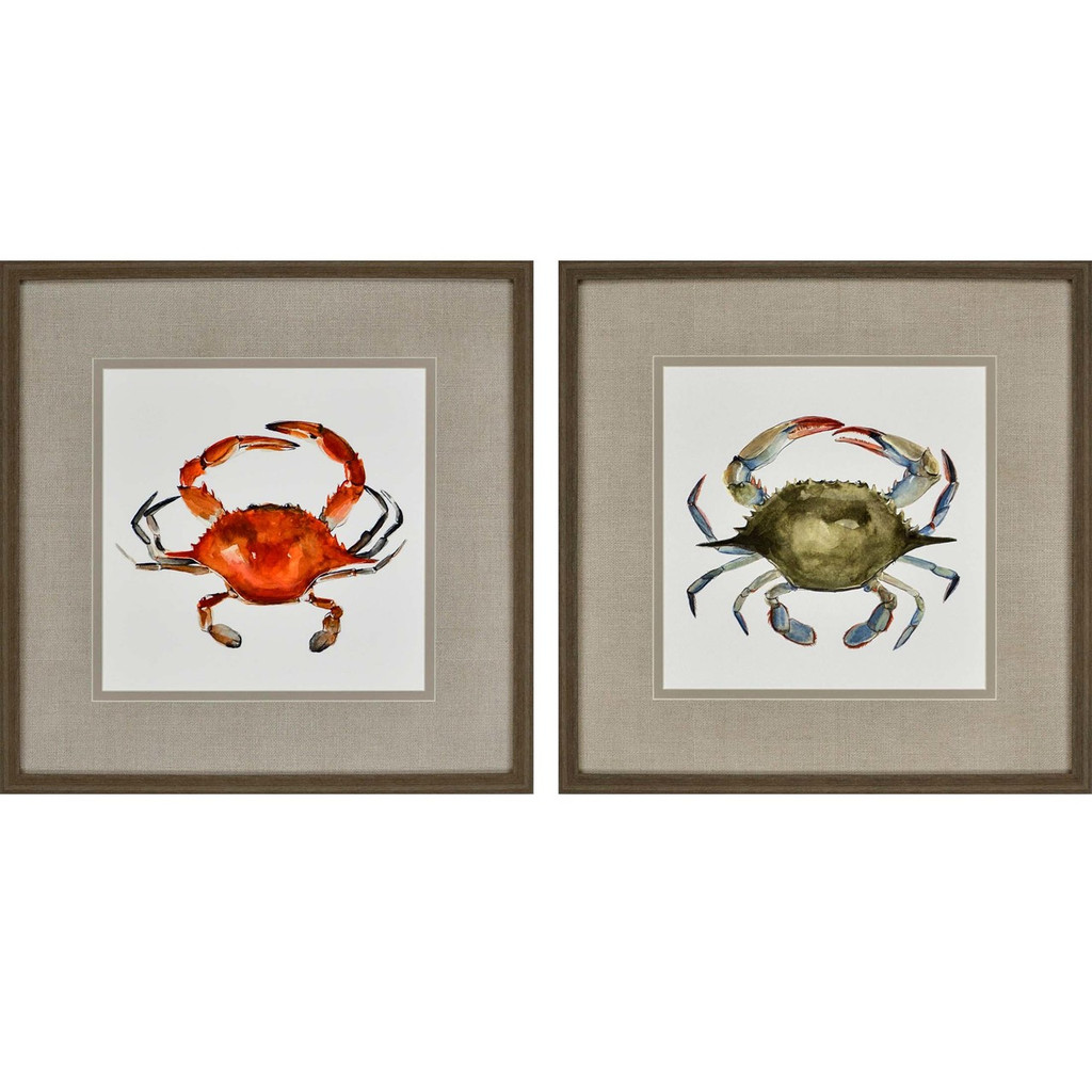 Watercolor Crabs Set of 2