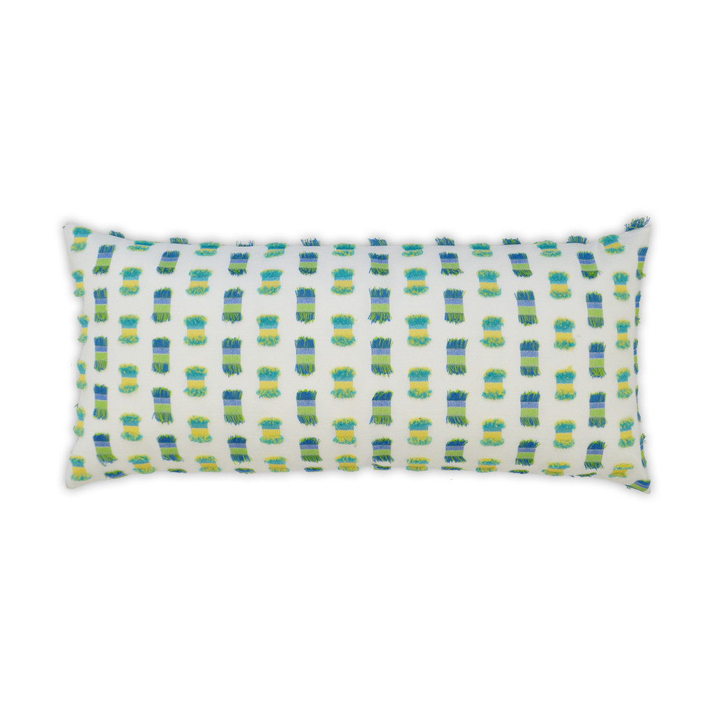 Fifi Green Indoor-Outdoor Lumbar Luxury Pillow