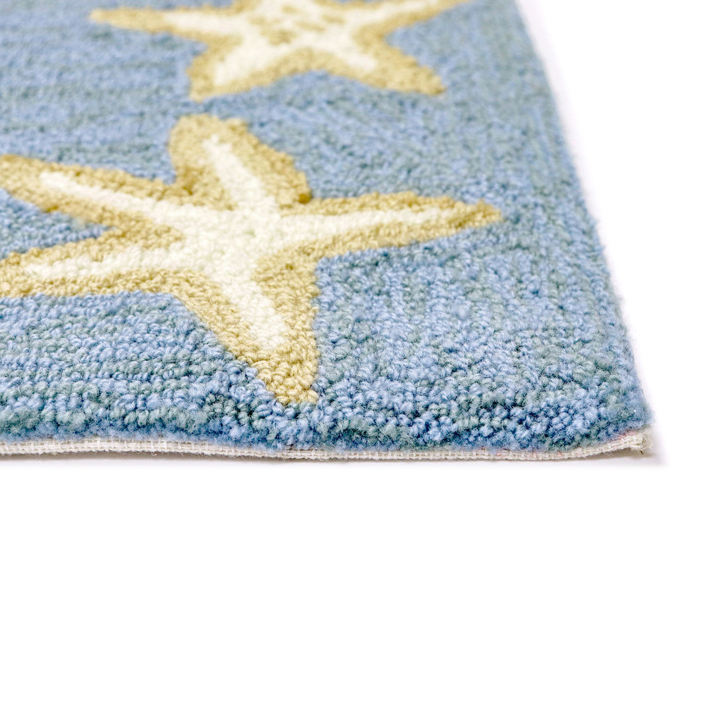 Capri Starfish Border Bluewater Rug pile