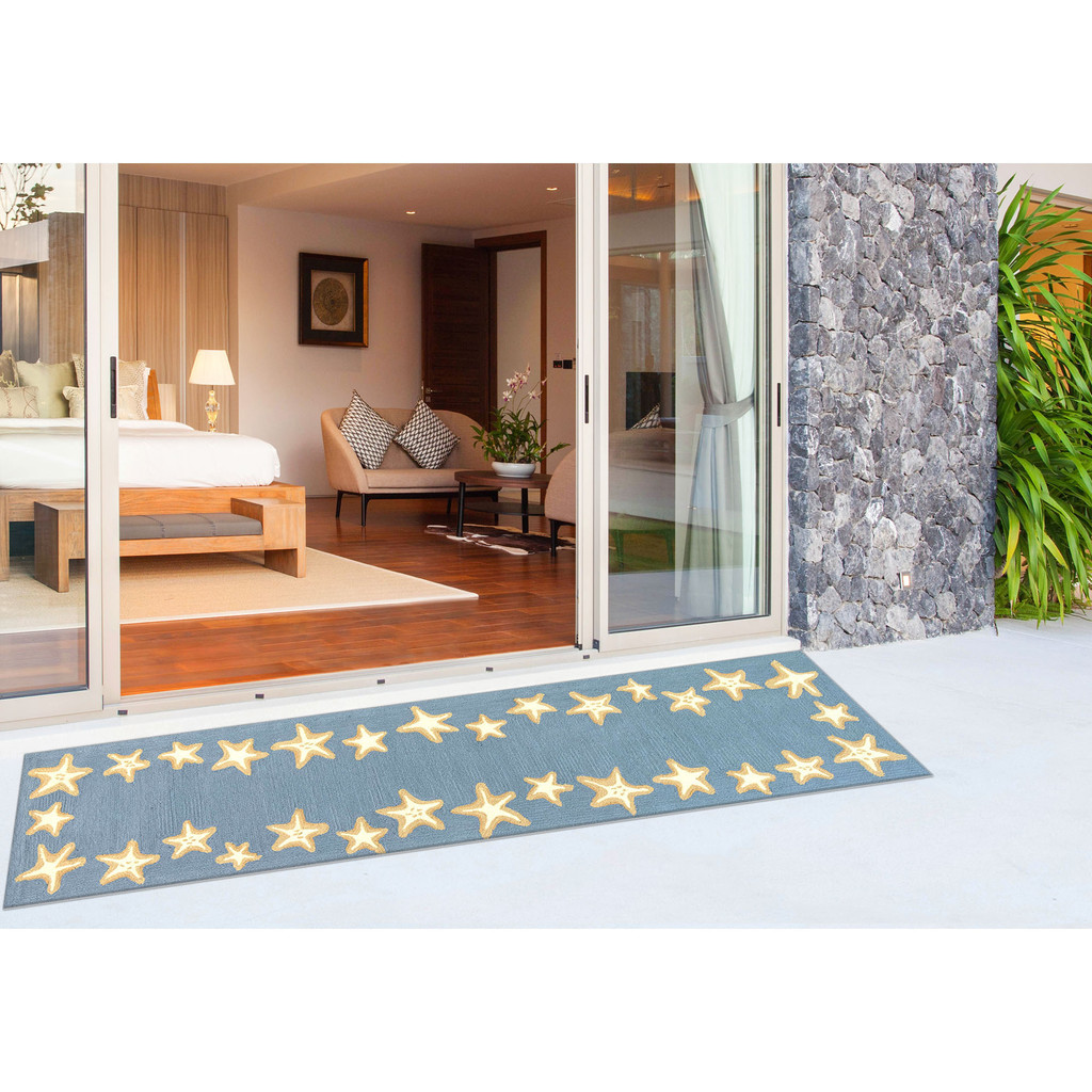 Capri Starfish Border Bluewater Rug floor image 2