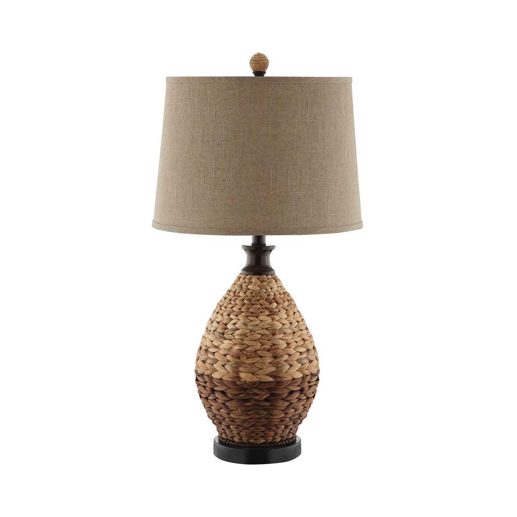 Jones Beach Woven Rattan Lamp