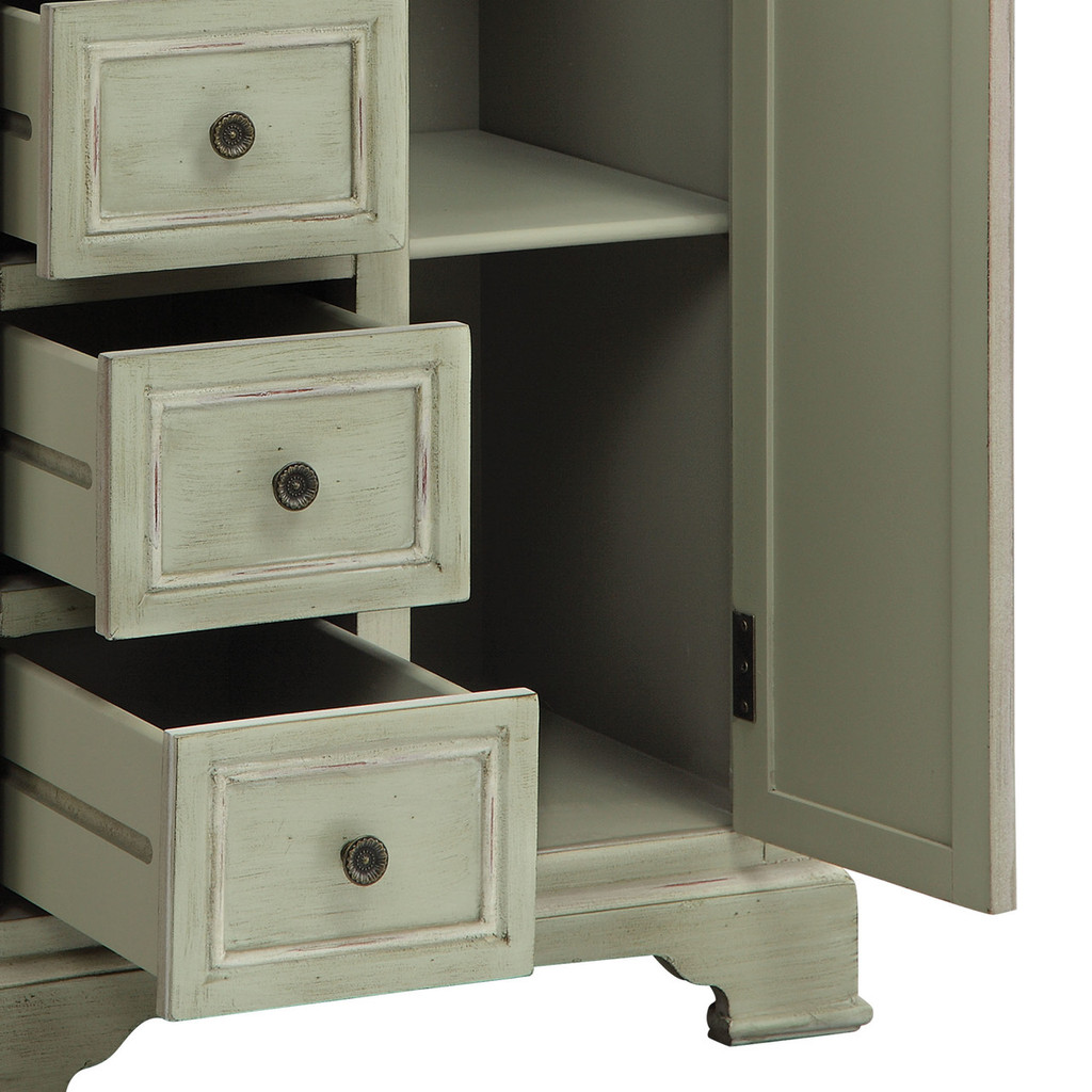 Chesapeake Cottage Tall Cabinet drawers open