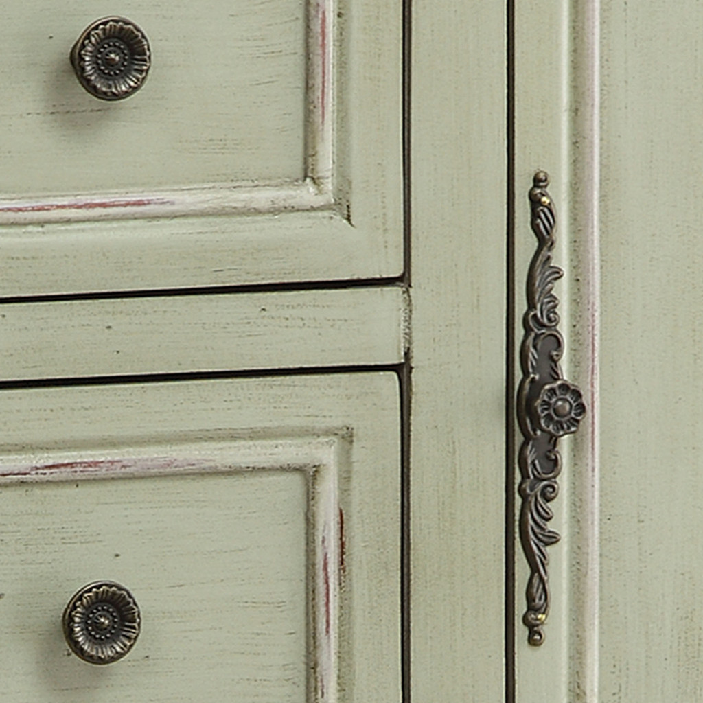 Chesapeake Cottage Tall Cabinet close up hardware