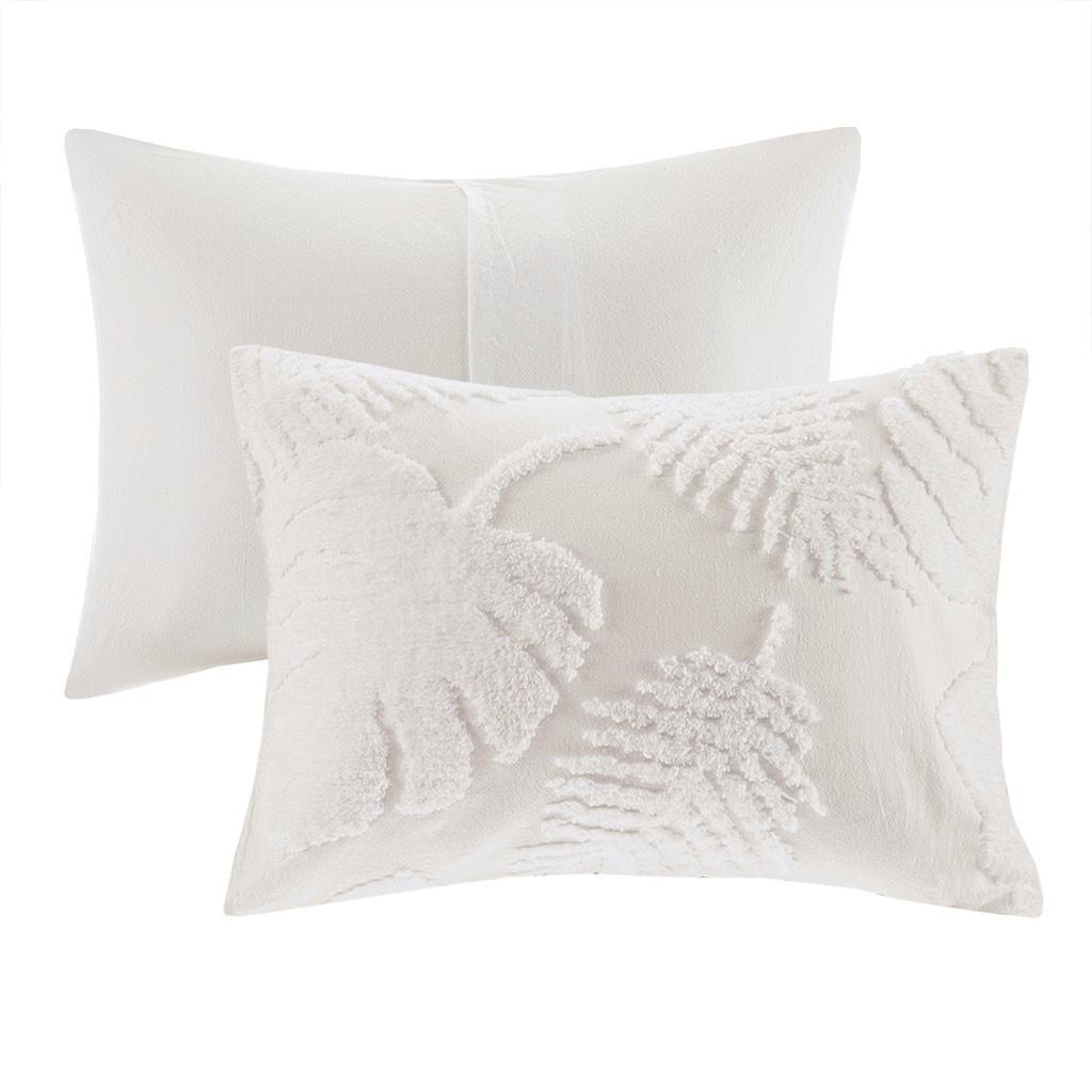 Bahama Palms Tufted Chenille King Comforter Set shams
