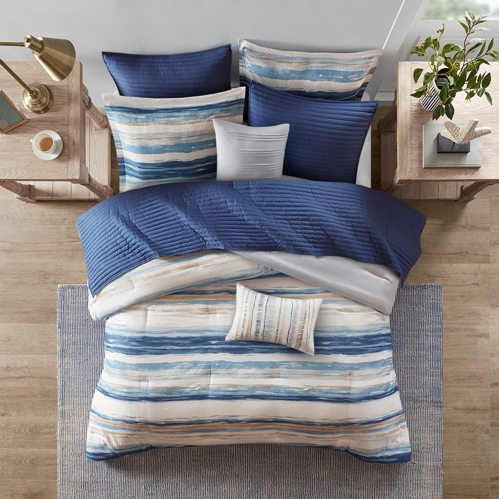 Marina Sea 8-Piece Comforter and Coverlet Collection 2