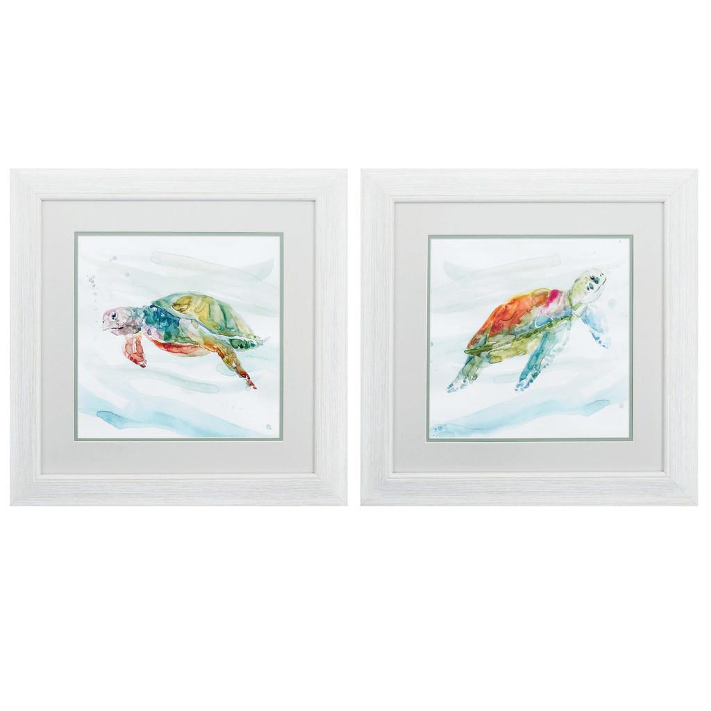Turtle Tropics Wall Art - Set of Two
