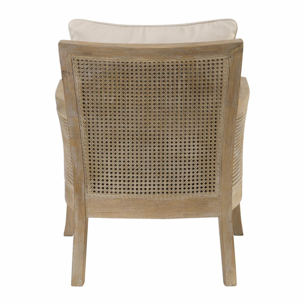 Encore Light Wash Natural Arm Chair back view