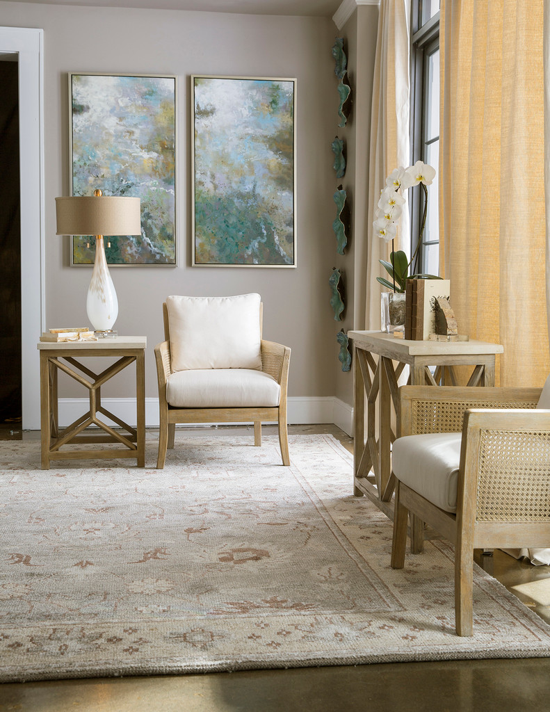 Encore Light Wash Natural Arm Chair room view