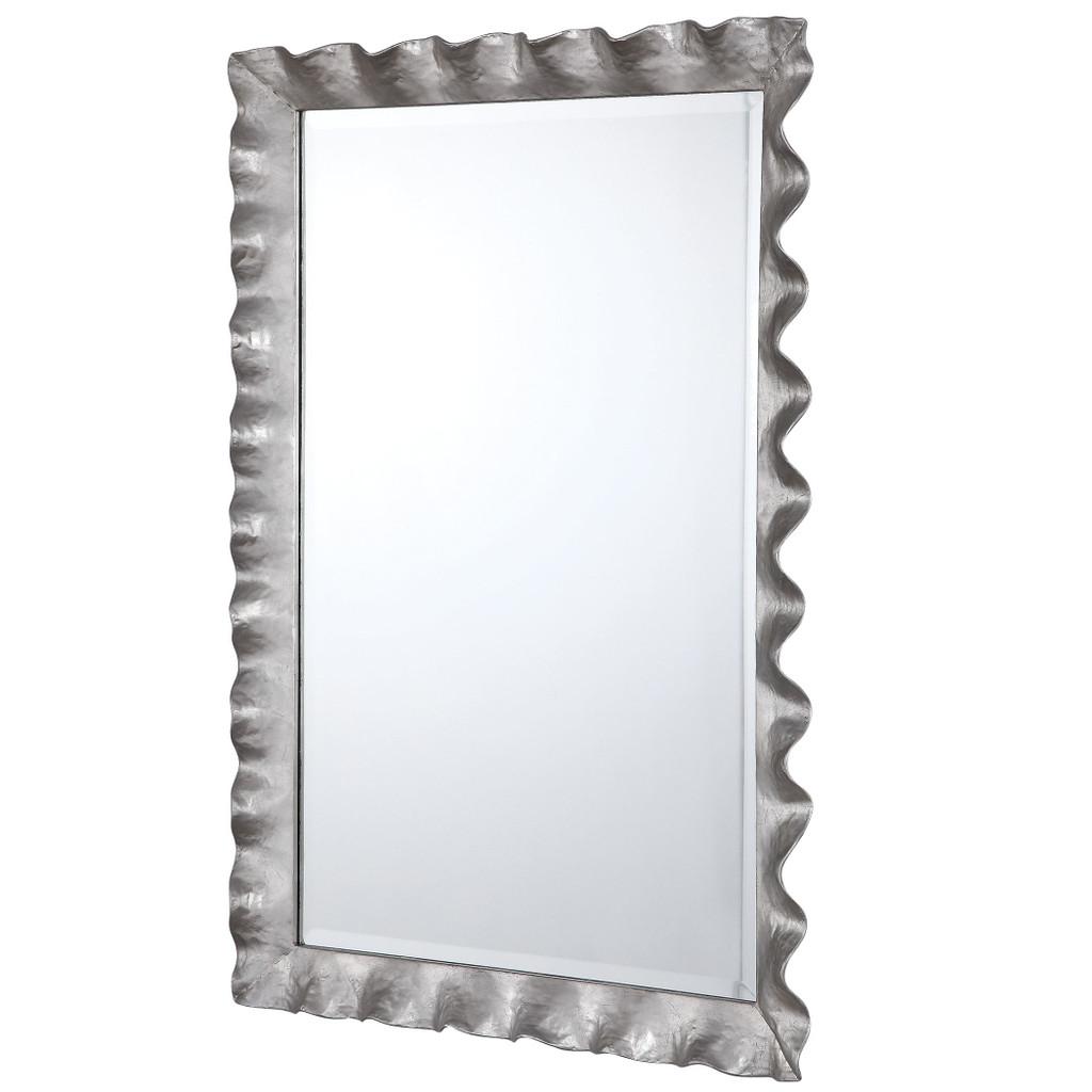 Haya Silvered Scallop Mirror side view
