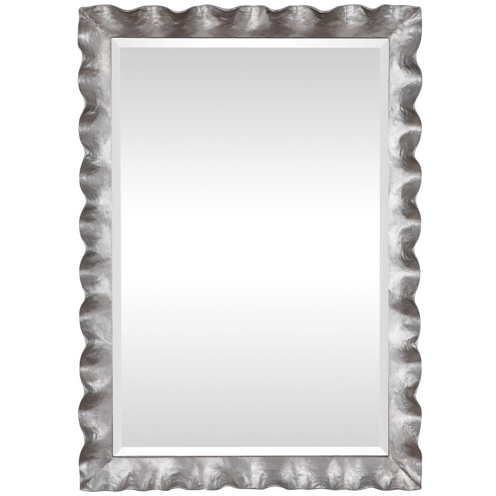 Haya Silvered Scallop Mirror