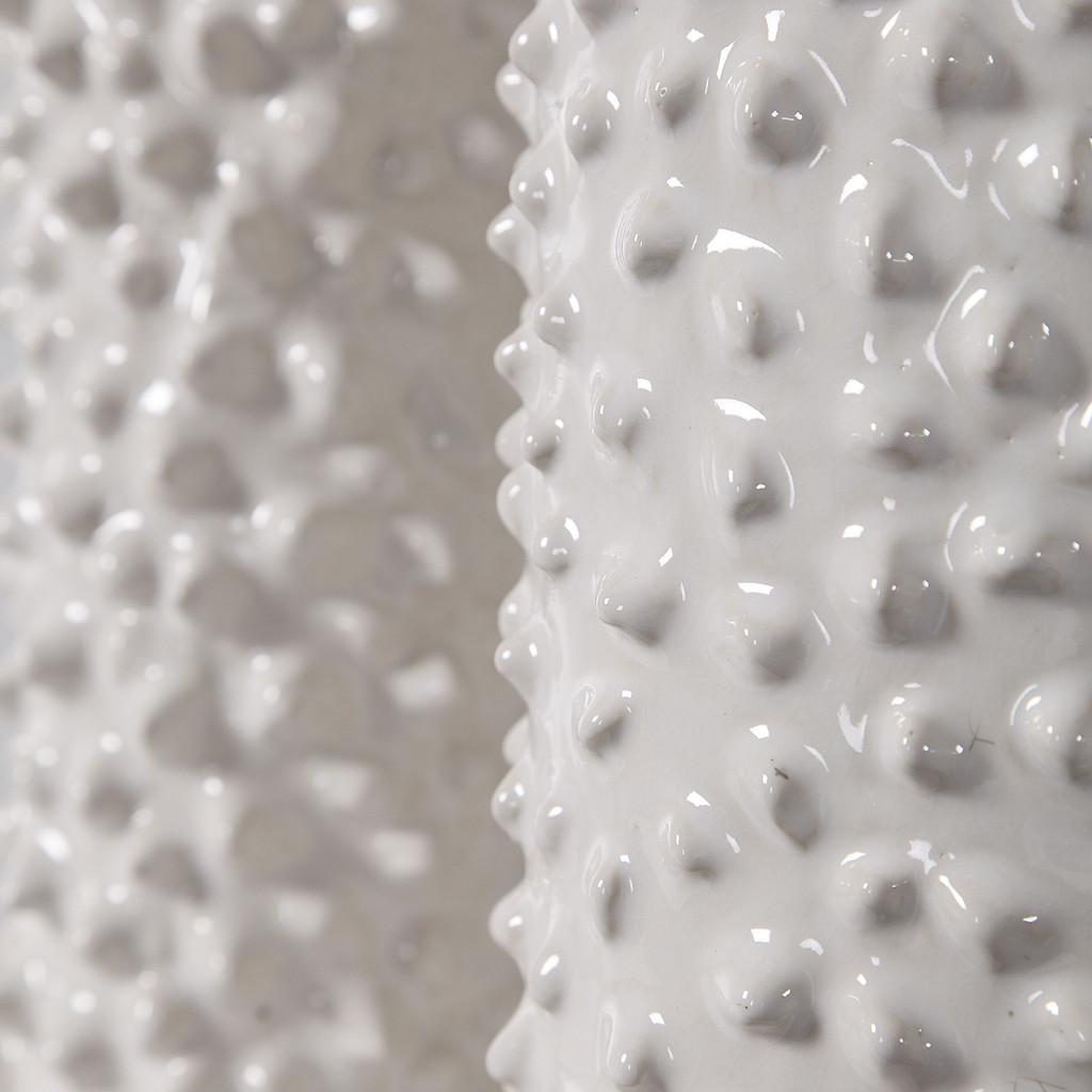 Fijian Reef White Vases - Set of 2 close up 1