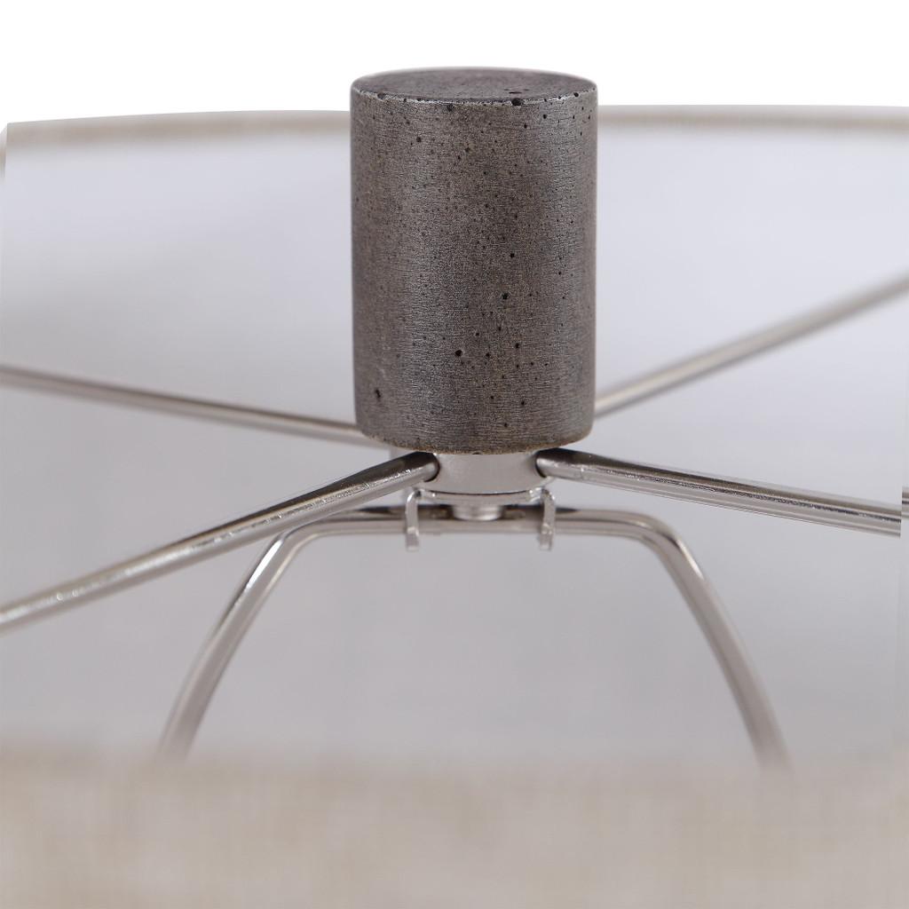 Pelia Light Aqua Striped Table Lamp finial