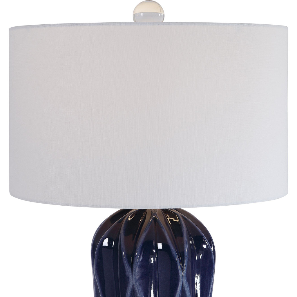 Malena Cobalt Blue Table Lamp close up