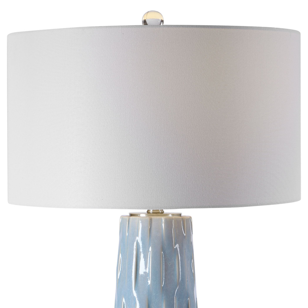 Breeze Light Blue Table Lamp close up