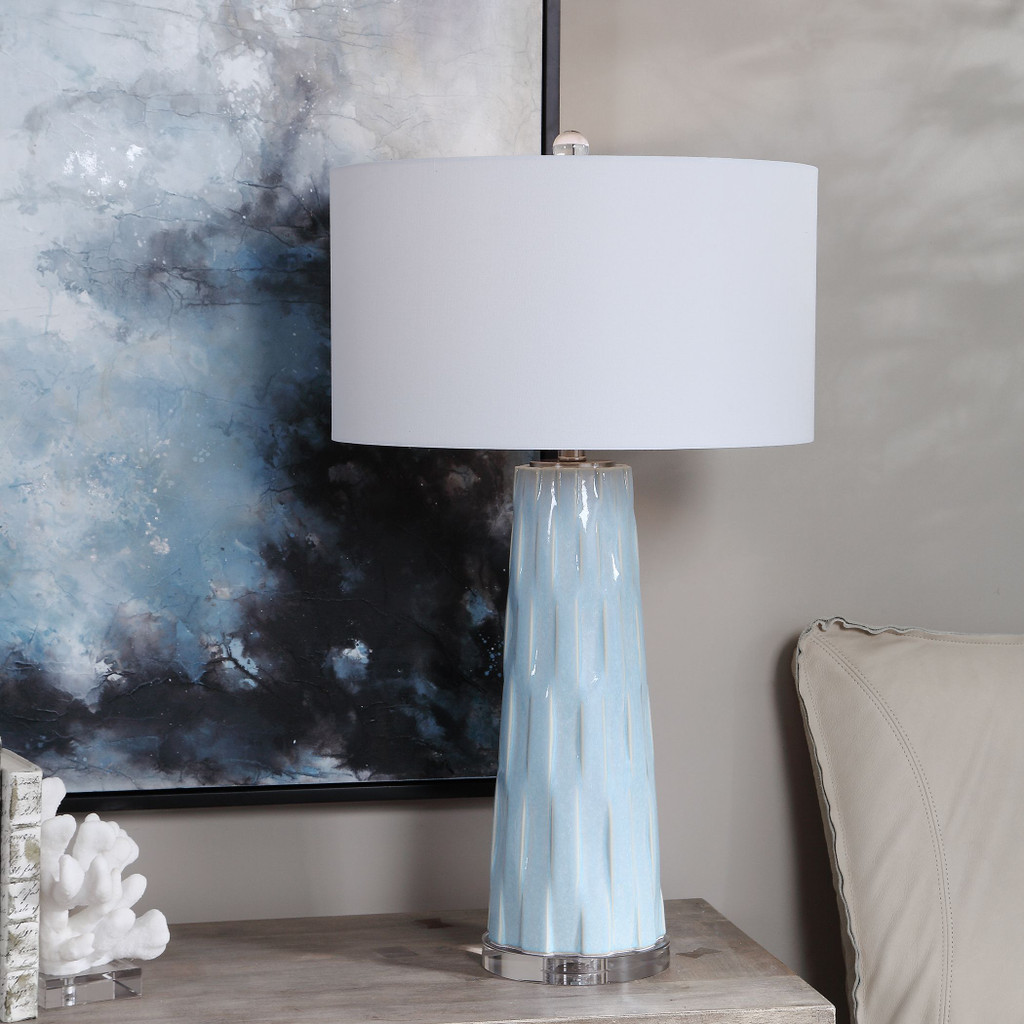 Breeze Light Blue Table Lamp room image