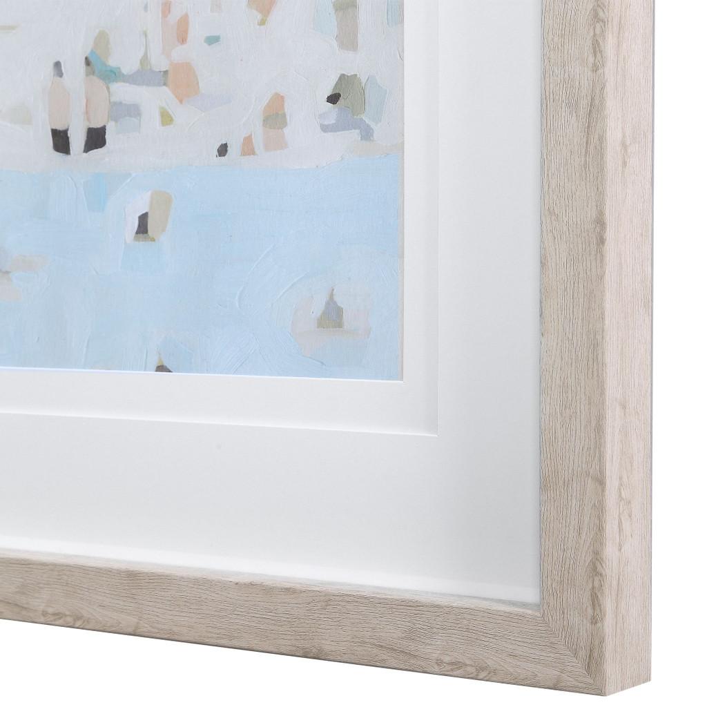 Sea Glass Sandbar Framed Prints close up