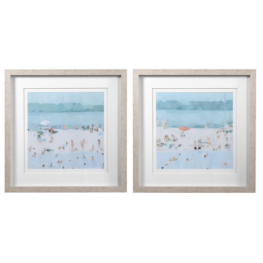 Sea Glass Sandbar Framed Prints